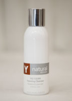 A bottle of Y natural's 102 Clean, which is a foaming cleanser used at Clarity Massage and Wellness for their organic facials