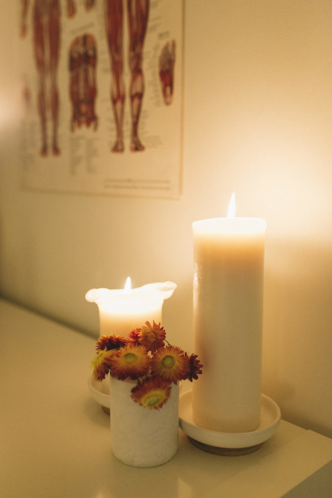 snug candle light in clarity massage and wellness centre