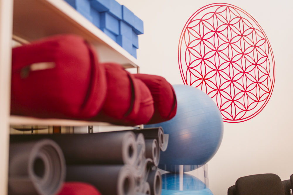 yoga equipment in classroom at clarity wellness centre north adelaide