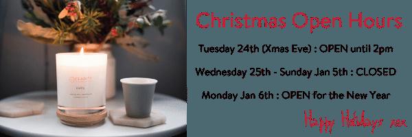 Clarity Wellness Christmas Hours 2019