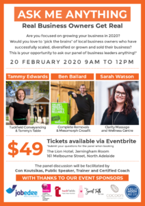 sarah watson real business owners get real event